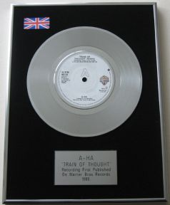 A-HA - TRAIN OF THOUGHT PLATINUM Single Presentation DISC